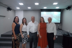 Ângela Moraes, Vérsia Araújo, Delano Gadelha, Patrícia Campos e Carlos Artur Rocha